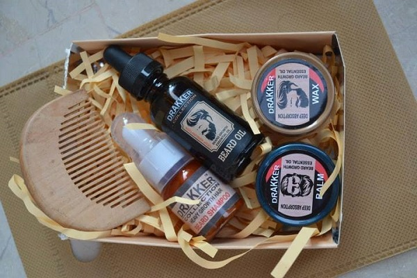 New Drakkar Beard Oil Kit - Heavy Growth Hair 5 in 1 Fast Growing Oil